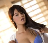 Ava Dalush Removes Her White Jacket And Blue Panties 6