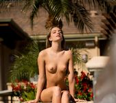 Kenna James Gets Comfortable By The Poolside 3