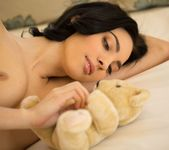 Araya Acosta Lies Down In Her Cushy Bed 6