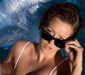 Bailey Bae Gets Wet Floating In The Pool 15