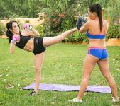 Megan Rain, Adrianna Luna - Martial Arts Accident 3
