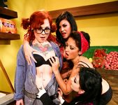 Andy San Dimas, Draven Star, Misti Dawn - Four Girls One Mop 4