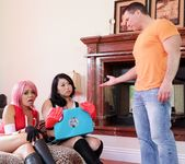 Sakura and Tifa Fuck Sexy Landlord Man 3