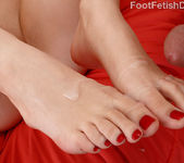 Anny Aurora Wraps Creamy Feet Around Cock 16