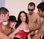 Abbey B, Carlos Bazuca - University Gang Bang #03 10