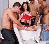 Abbey B, Carlos Bazuca - University Gang Bang #03 13