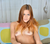 Sam Brook stripping naked on the sofa 8