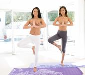 Adriana Chechik, Alina Li - Naked Yoga - Girlsway 4