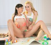 Taylor Reed, Samantha Rone - Paint Me Pink - Girlsway 6