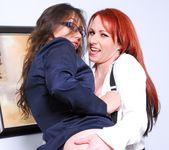 Sinn Sage, Kylie Ireland - Lesbian Office Seductions 24
