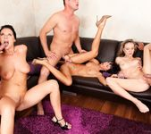 Angel Piaf, Enza, Gina Devine - Cock Swappers 15