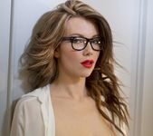 Nicky's secretarial striptease - Spinchix 10
