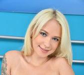Arteya - blonde teen showing off her natural breasts 14
