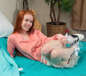 Dolly Little getting nasty with toys on the bed 2