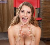 Kinsley Eden spreading & fingering her pussy 15