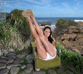 Sabrina Banks - dildoing on the beach 4