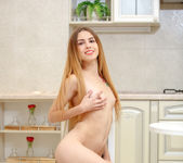 Jessie Jay fingering her pussy in the kitchen 12