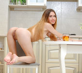 Jessie Jay fingering her pussy in the kitchen 18