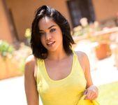Selena Santana Strips Out Of Her Pink Panties And Yellow Top 8