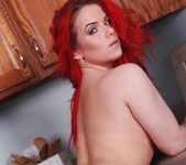 Harley teases in the kitchen naked 15