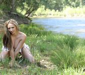 Lily poses in Yosemite Park and teases in a sexy USA bikini 8