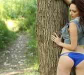 Lily teases in the woods 5