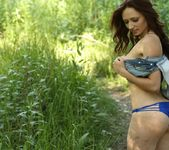 Lily teases in the woods 11