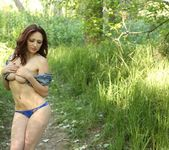 Lily teases in the woods 13