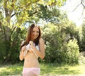 Lily teases in her pink panties 7