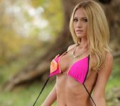 Shannyn teases in her pink and orange bikini 15