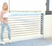 Shannyn strips and teases on a Vegas rooftop 12