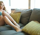 Shannyn strips on the couch 9