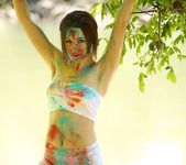 Hayden teases as she is all painted up 13
