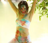 Hayden teases as she is all painted up 14