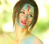 Hayden teases as she is all painted up 15