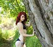 Kylie strips and teases in the woods 2