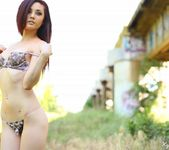 Kylie strips and teases in the field 2