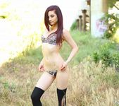 Kylie strips and teases in the field 3