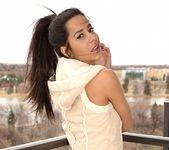Bella poses in her cute vest 6