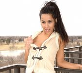 Bella poses in her cute vest 11