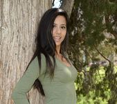 Bella teases and poses in the tree 2