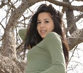 Bella teases and poses in the tree 11