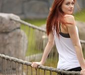 Taylor strips on the rope bridge 3
