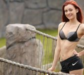 Taylor strips on the rope bridge 4