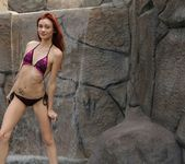 Taylor strips by the waterfall 8
