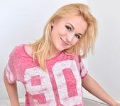 Aislin - shy blonde teen teases 3