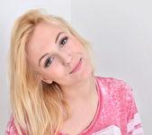 Aislin - shy blonde teen teases 5