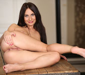 Lana Ray - cute brunette spreading her pussy 14
