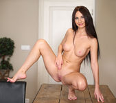 Lana Ray - cute brunette spreading her pussy 19