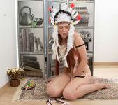 Foxy - amerindian pussy spread 16